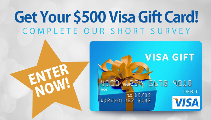 Take a Short Survey and Get a $500 Visa Gift Card